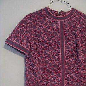 Vintage Purple/Pink Giraffe Print Shift Dress M